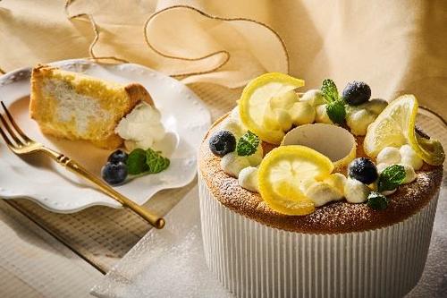 はちみつレモンの生シフォンケーキ
